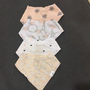 Lil' dandelion baby girl fleece bib set